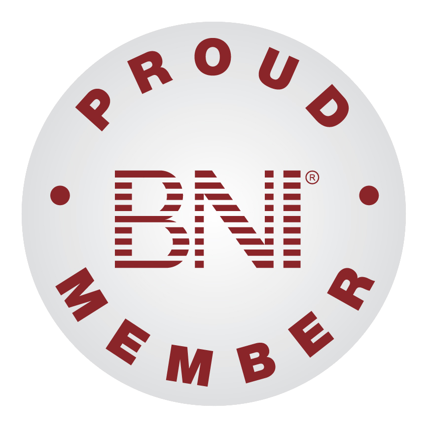 proud member grey ATC and BNI MEMBER